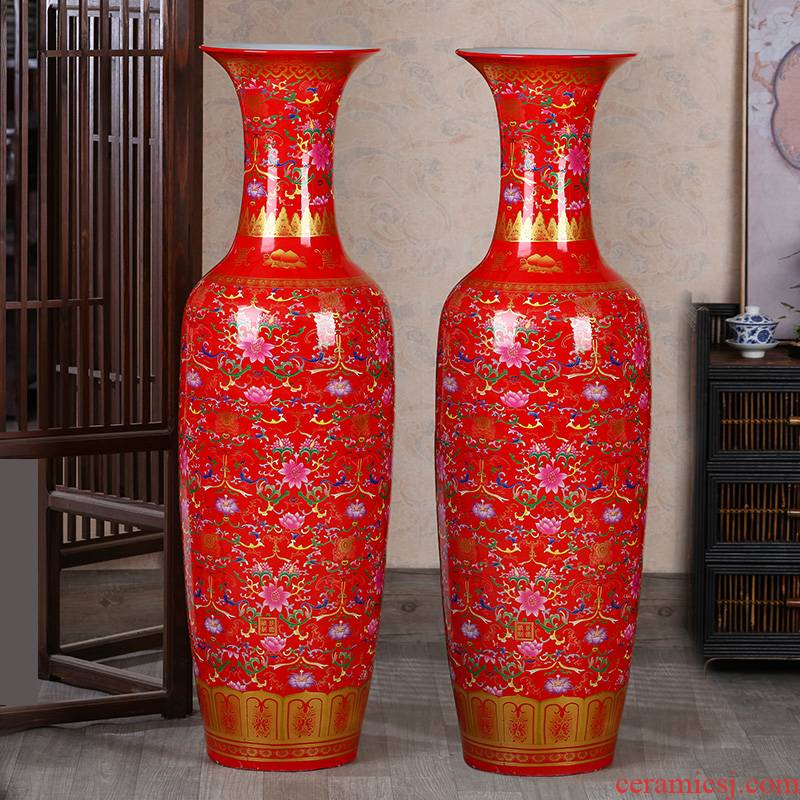 Jingdezhen ceramics vase of large living room large Chinese style household TV ark hotel furnishing articles