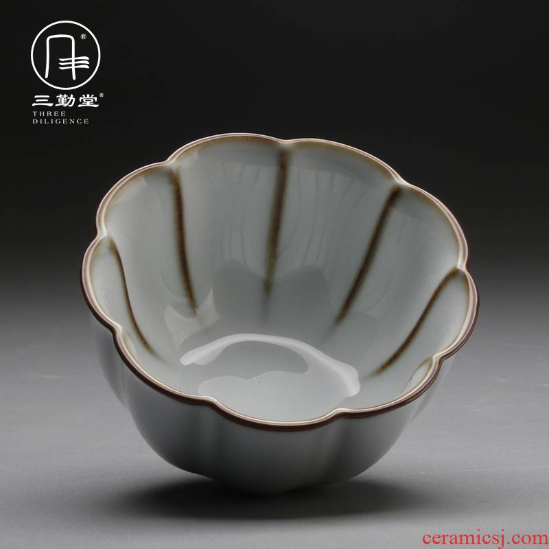 Three frequently hall official up with jingdezhen ceramic sample tea cup tea cups kung fu master cup small single CPU S44069 cups