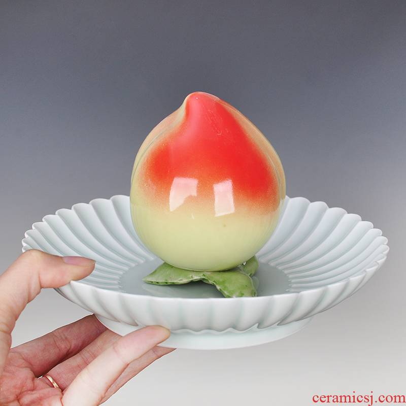 Lovely peach small place ceramics household act the role ofing is tasted the desktop sitting room adornment rich ancient frame counter celebration gift