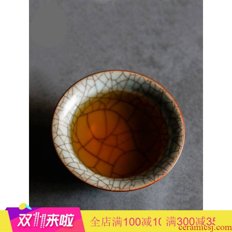 . Poly real products sample tea cup scene jingdezhen your up slicing can raise the pu - erh tea from the single CPU master cup sample tea cup