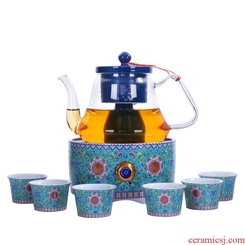 Shadow on glass boiled tea, black tea tea steamer steam boiling kettle electrothermal electric TaoLu steaming tea stove pu 'er tea POTS