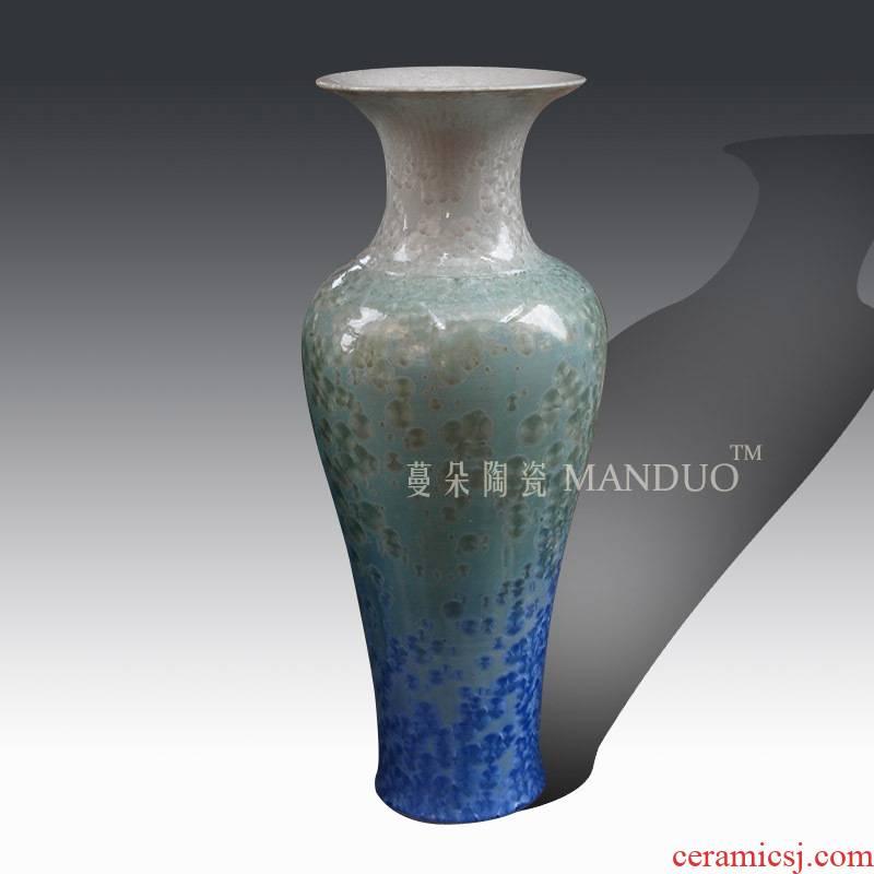Jingdezhen 1 m crystalline glaze color display vase elegant living room furnishings ice glaze of large vase