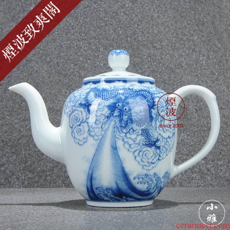 Jingdezhen lesser RuanDingRong made lesser dragon bibulous beauty shoulder the teapot tea CiHu collection model