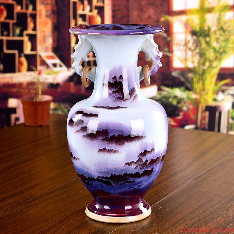 Jingdezhen ceramics creative jun porcelain vase classical household act the role ofing is tasted sitting room decoration crafts modern furnishing articles