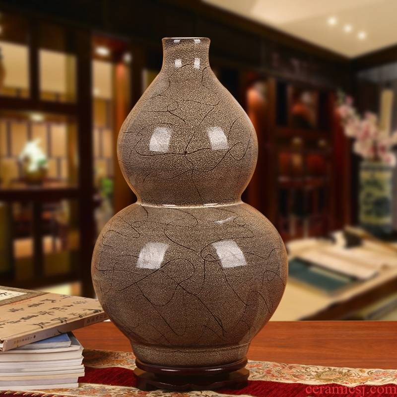 Jingdezhen ceramics contracted European pottery style gourd vase household adornment of I sitting room is placed