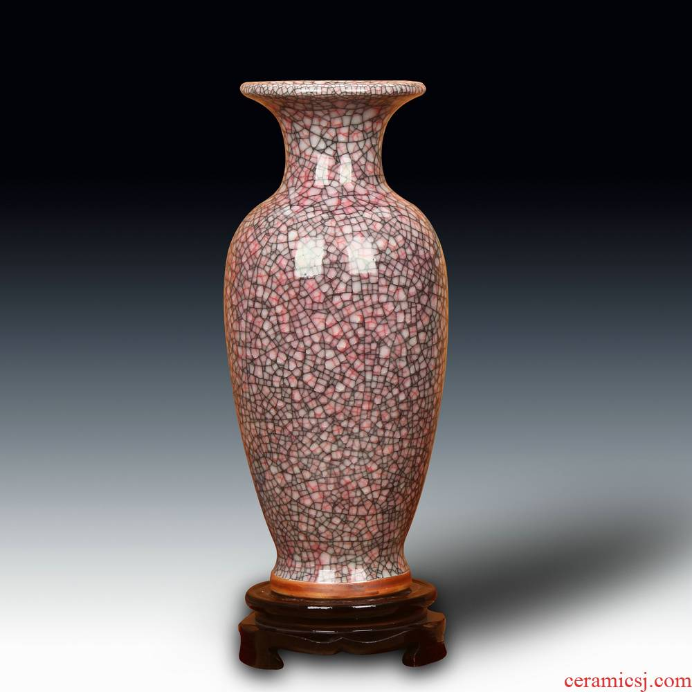 Jingdezhen ceramic vase archaize of jun porcelain up borneol gold wire vases, Chinese style household decorative furnishing articles
