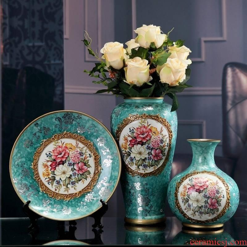 European creative wedding gifts home decoration ceramic handicraft living room TV cabinet wine accessories furnishing articles