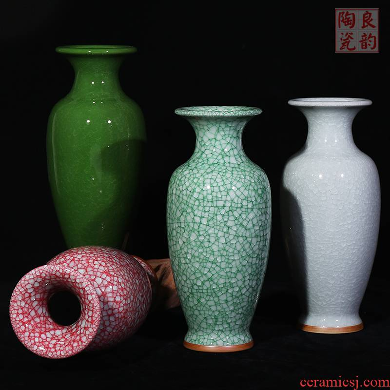 Insert jingdezhen ceramics vase open the slice archaize of jun porcelain vases, modern home sitting room adornment is contracted furnishing articles