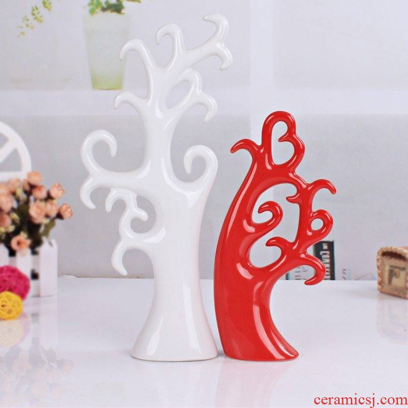 I and contracted fashion ceramic arts and crafts home furnishing articles sitting room adornment fashion wedding gift love trees