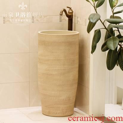 Jingdezhen ceramic basin art lavatory conjoined column one column pillar lavabo lavatory toilet, the balcony