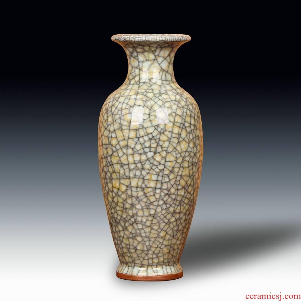 Jun porcelain of jingdezhen ceramics gold wire guanyao crackle vase archaize home handicraft furnishing articles