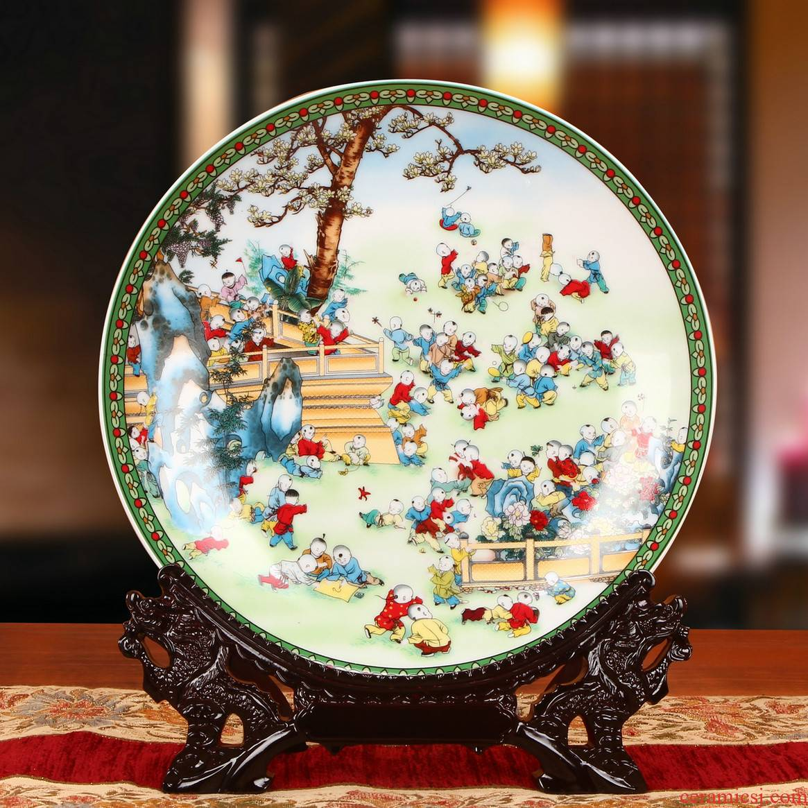 Jingdezhen ceramics colorful figure sat the ancient philosophers hang dish plate faceplate wedding gift decoration home furnishing articles