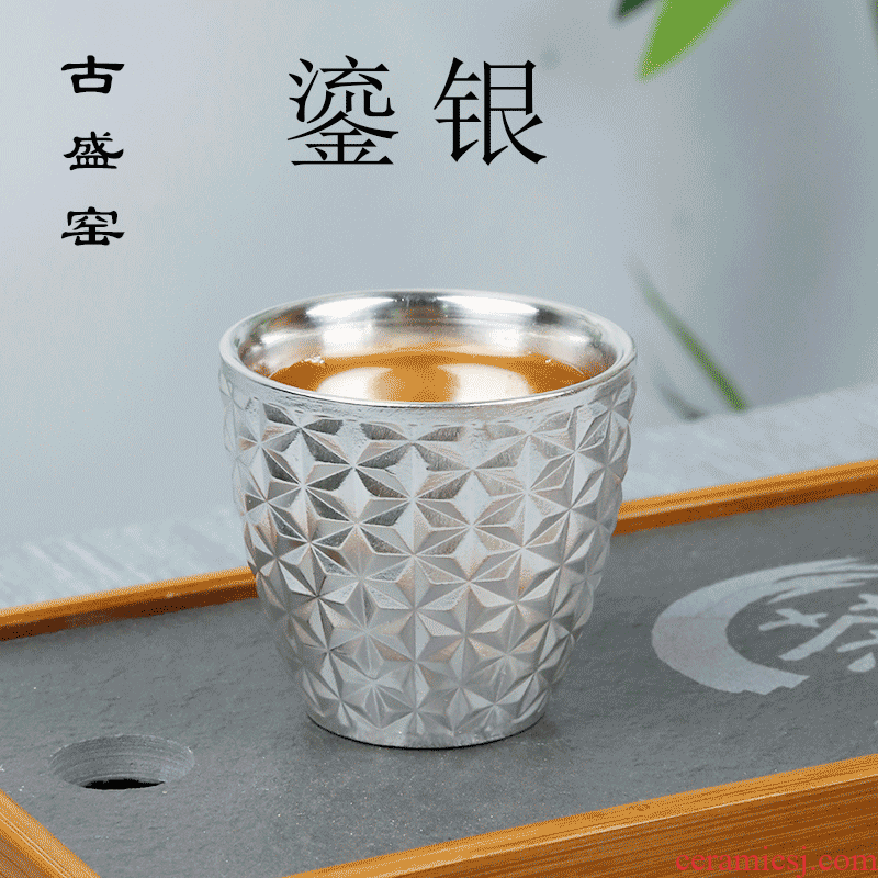 Ancient up new silver tea light cup kung fu personal single cup sample tea cup coppering. As silver ceramic masters cup bowl