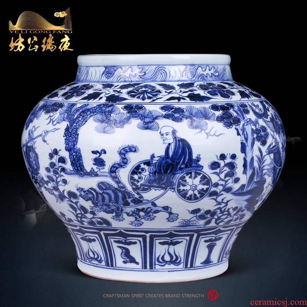 Jingdezhen ceramics furnishing articles antique Chinese blue and white porcelain vase home sitting room porch decoration decoration