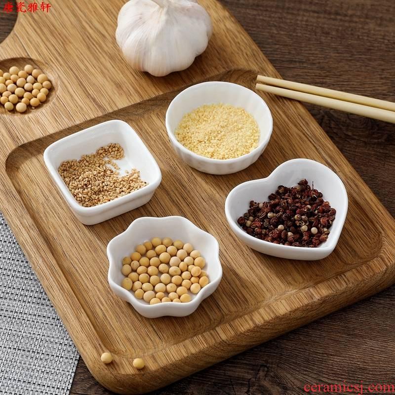 Restaurant dishes son set tableware side dishes taste dish household small fold vinegar dish of soy sauce paste disc disc ceramic snacks