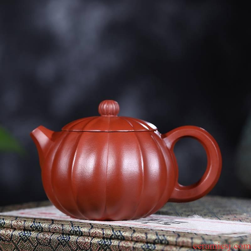 Yixing it undressed ore dahongpao manual jin ling ling flower beauty pot stripe teapot 260 ml