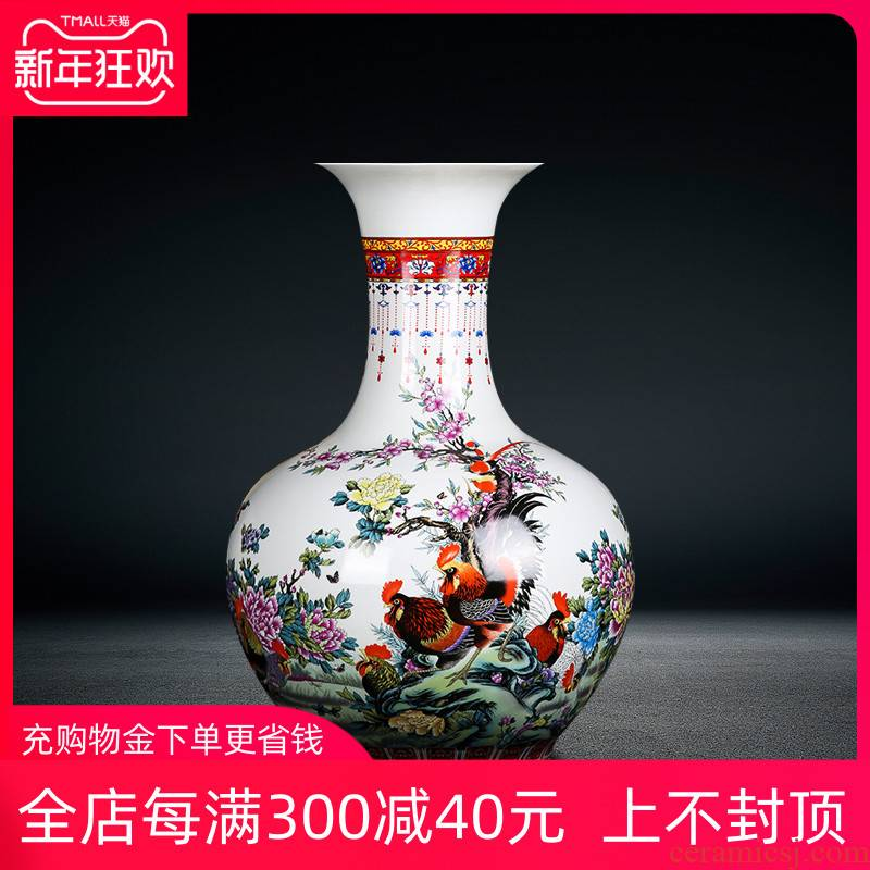 Jingdezhen ceramics seven male for the spring home of large vases, flower arranging, the sitting room porch rooster furnishing articles ornaments