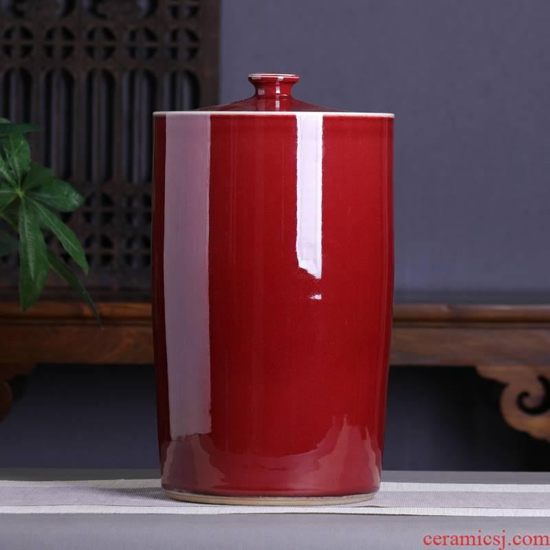 Jingdezhen tea pot extra large ceramic seal tank moistureproof with cover pu - erh tea storage POTS home tea cylinder