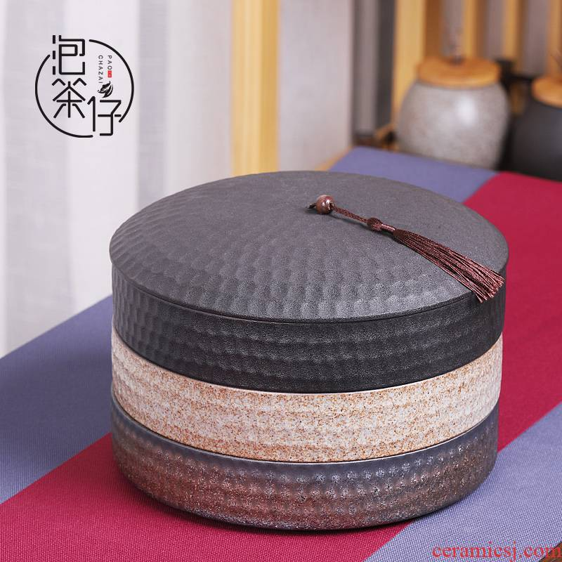 Puer tea general tea cake boxes household seal multilayer ceramic pot moistureproof caddy fixings tea cake box storage tanks