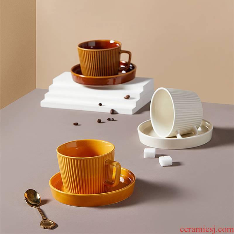 Roman stare blankly grain coffee cup Europe type restoring ancient ways is delicate ceramic cup light key-2 luxury elegant solid milk tea juice cup