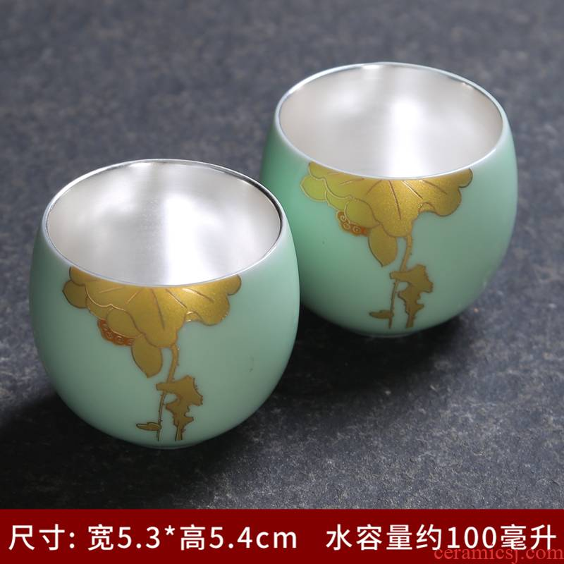 The Personal single sample tea cup cup ceramics up celadon teacup kung fu tea tea service master cup of household, small bowl