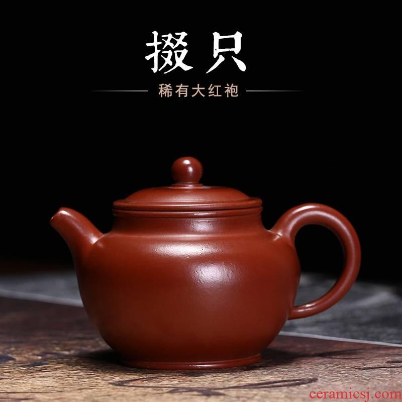 Yixing undressed ore it zhu clay pot pure manual mud painting Duo pot pot applique nameplates, kung fu tea teapot