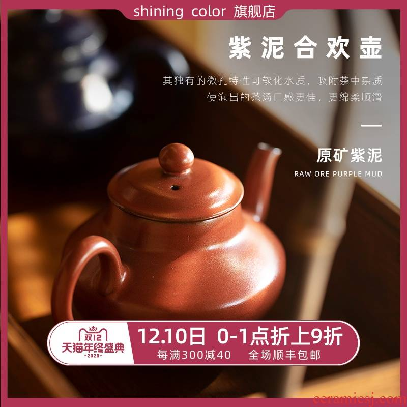 Lam, pine hall undressed ore request of purple clay pot clay high temperature color glaze little teapot jingdezhen kung fu in use the teapot