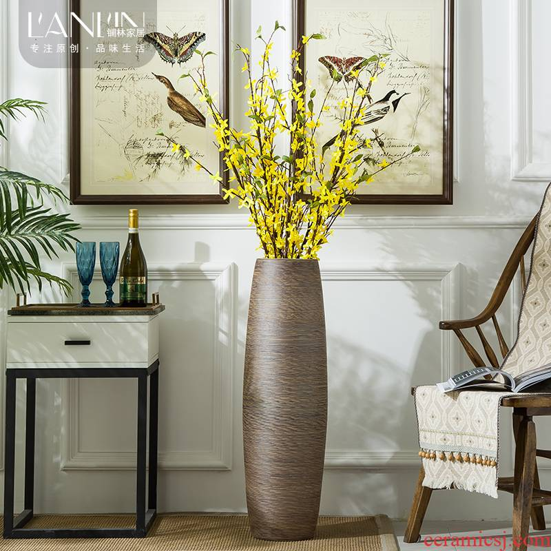 Furnishing articles sitting room of large vase household adornment simulation flower contracted and I ceramic flower arranging dried flower porcelain