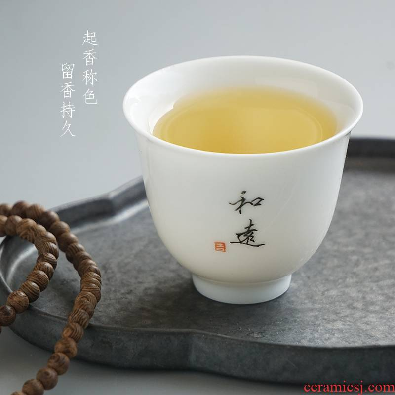 Hand - drawn lettering jingdezhen porcelain cups tea sample tea cup cup single CPU master cup individual private custom home
