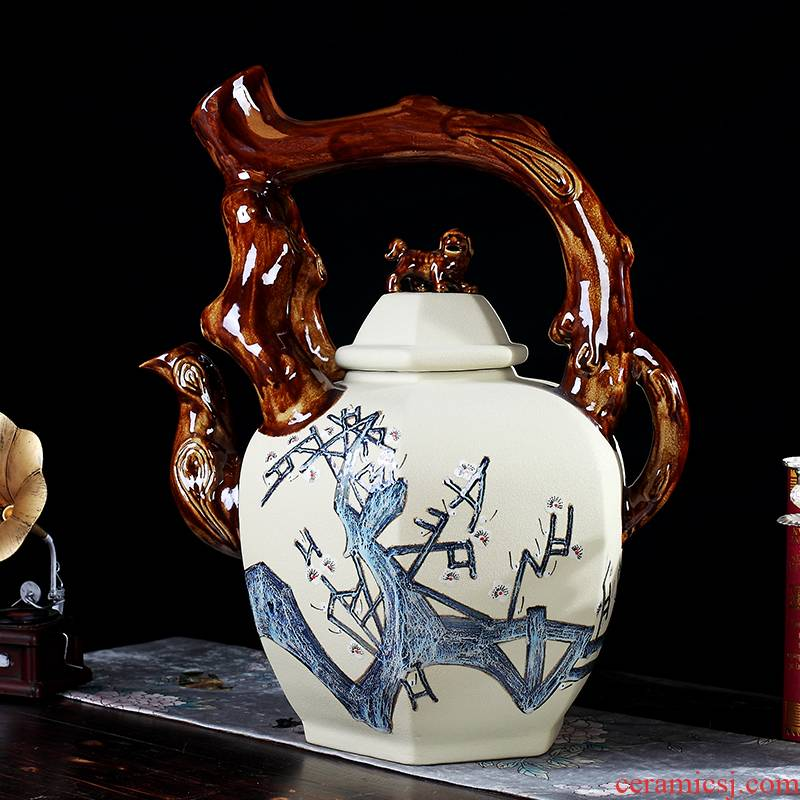 Large teapot manual furnishing articles of jingdezhen ceramics creative archaize sitting room ark, landing crafts ornament