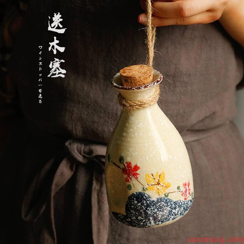 Japanese sake wine gift box wine bottle glasses suit Japanese burn old he its drank heating glass ceramics