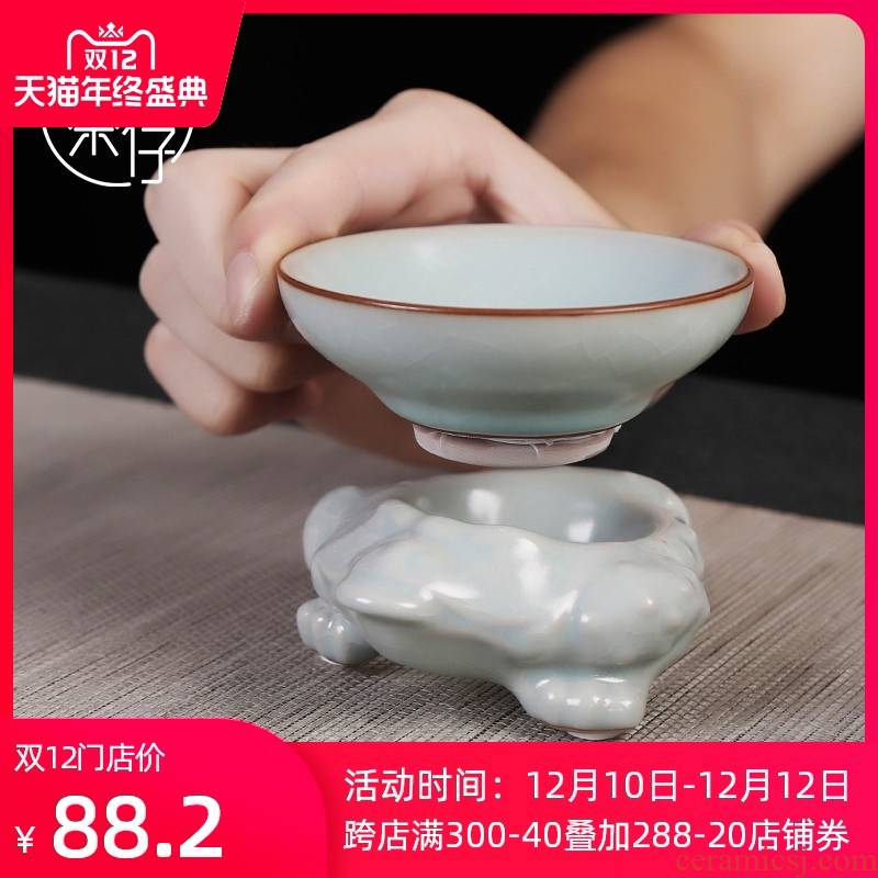Your up hook ceramic parts household retro tea filter suit kung fu tea set creative stents to open the can raise