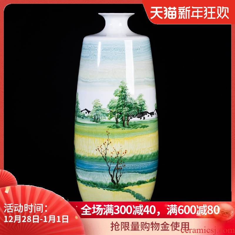 Lai Dequan hand - made master of jingdezhen ceramic vases, furnishing articles rich ancient frame the size of the sitting room porch decoration
