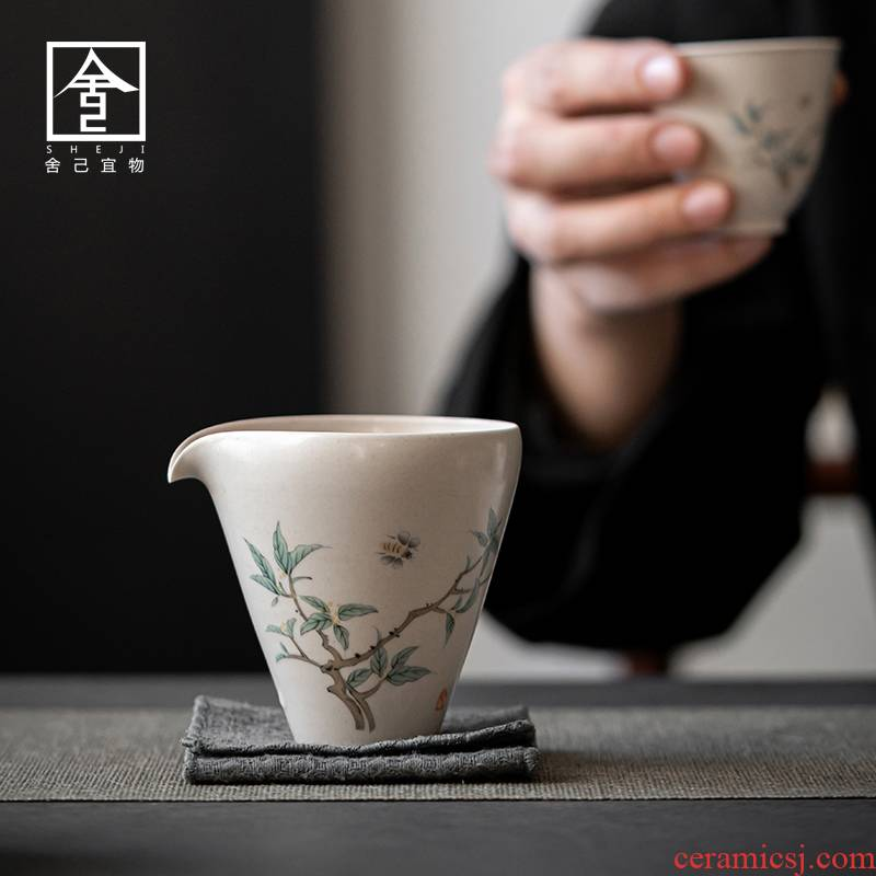 "Self - ""appropriate content of jingdezhen ceramic fair keller vintage Japanese tea is tea sea single points cup and cup"