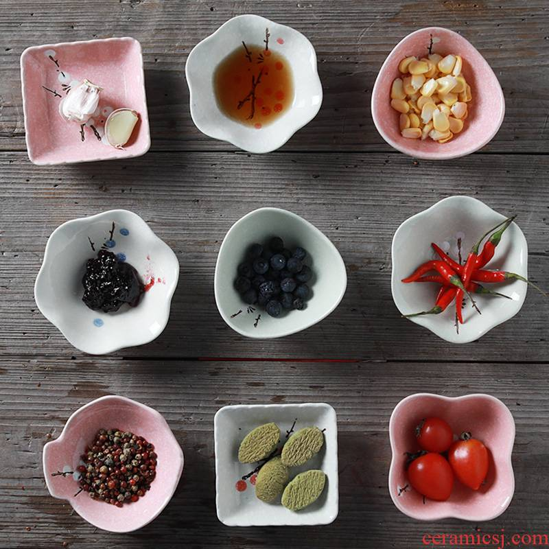 Household ceramics small plate taste dish of creative move dipping sauce dish pickles plate, snack plate tableware