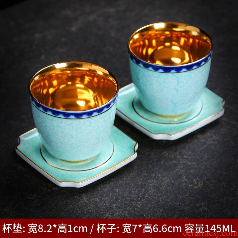 Kung fu master ceramic cups cup sample tea cup for tea cups all hand jingdezhen blue and white porcelain tea set accessories