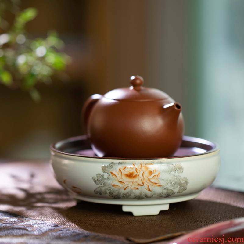 Pure manual pastel hand - made with a silver spoon in its ehrs expressions using the and ceramic pot bearing circular bearing dry tea mercifully plate of small water dry tea table
