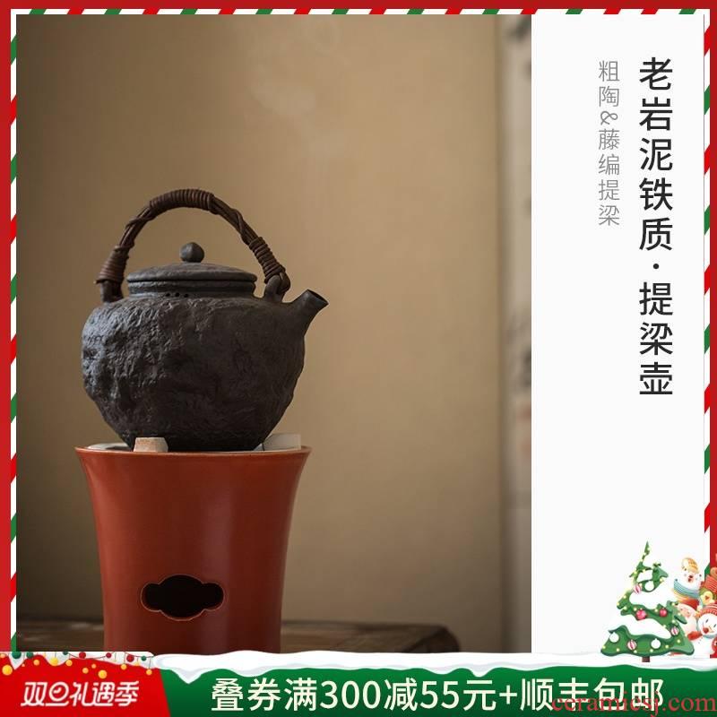 Cloud (coarse pottery pot of archaize girder creative manual jingdezhen ceramic old rock, prevent hot boiled tea, kungfu tea set