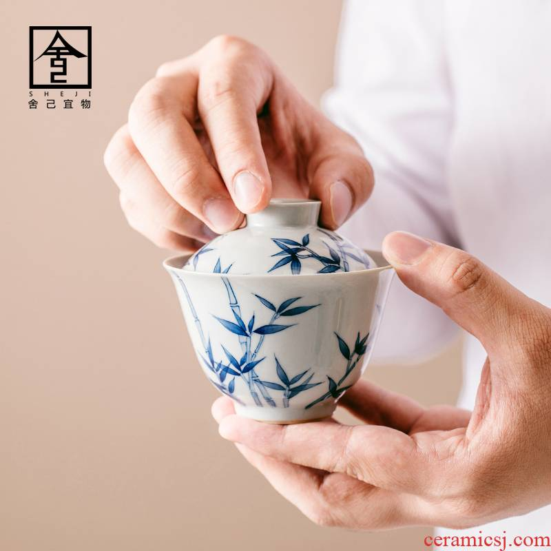 """The Self - """"appropriate content tureen single bowl was suit jingdezhen retro hand - made Japanese kung fu tea tea taking"""