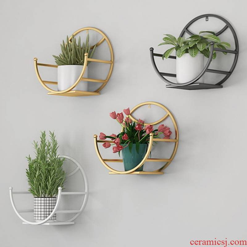 Contracted sitting room balcony wall - mounted flowerpot wearing restaurant hang buy object flower tiles from'm other decoration on the wall
