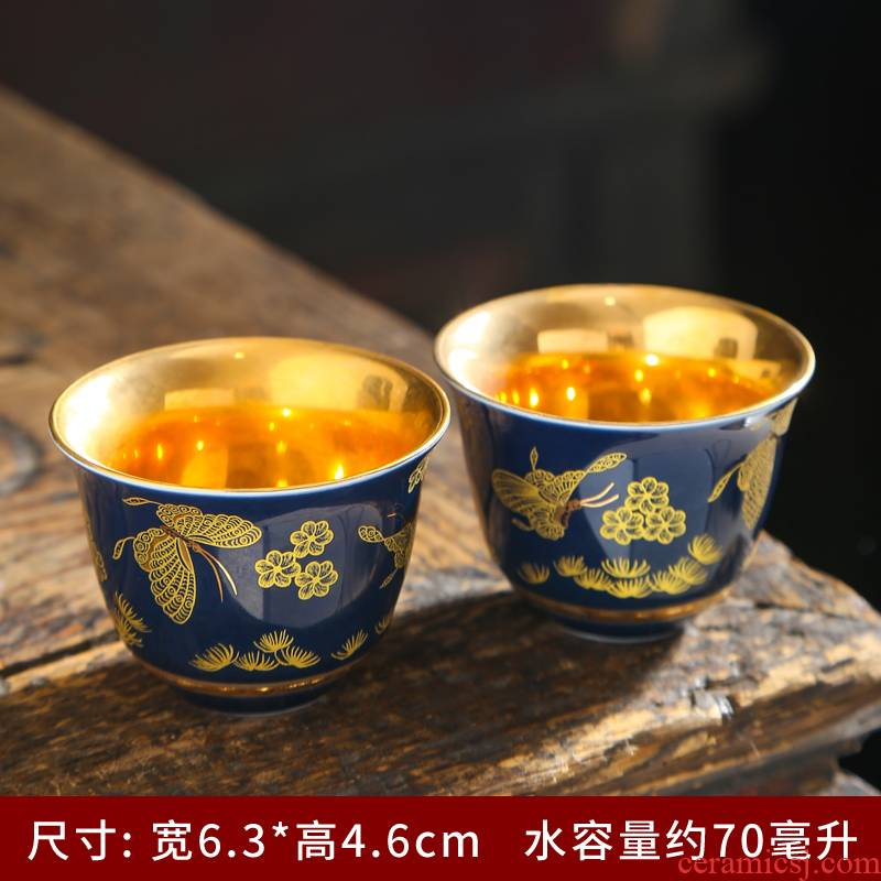 Jingdezhen ceramic cups coppering. As silver sample tea cup 999 sterling silver cup kung fu tea set single master cup silver cup