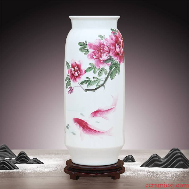 To ceramics hand - made carmine well - off straight bottle