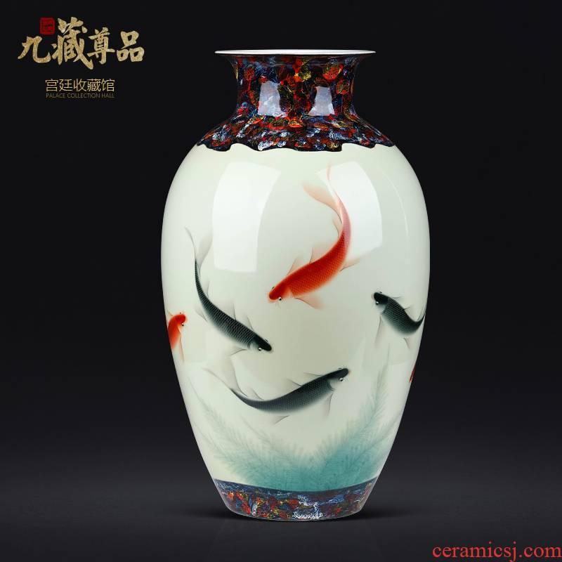 The Master of jingdezhen ceramics hand - made goldfish vase Chinese style living room TV ark, flower arranging decoration as furnishing articles