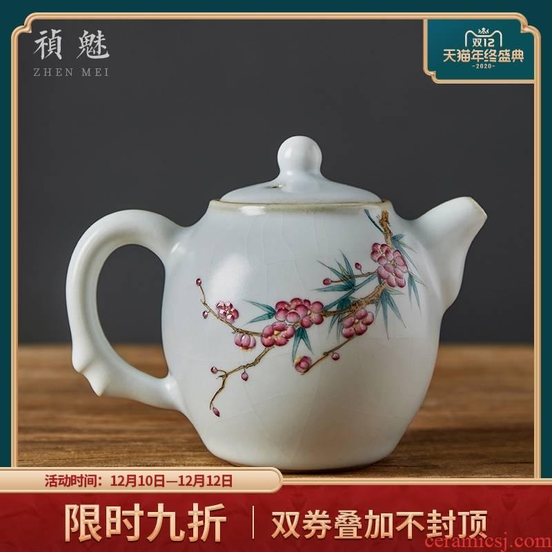 Shot incarnate your up hand - made by patterns open piece of jingdezhen ceramic teapot kung fu tea set household filter teapot