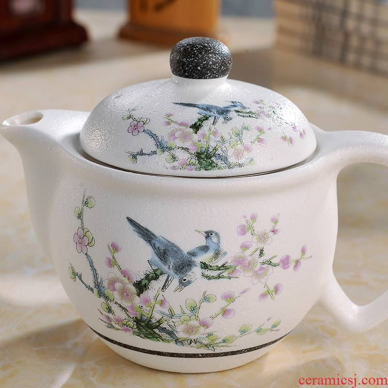 Poly real scene of jingdezhen ceramic household kung fu tea set tea with water filter tea set small blue and white porcelain