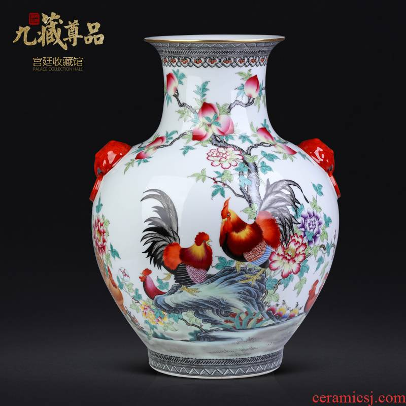 Jingdezhen ceramics vase prosperous Chinese style living room porch TV ark of tea table flower adornment furnishing articles