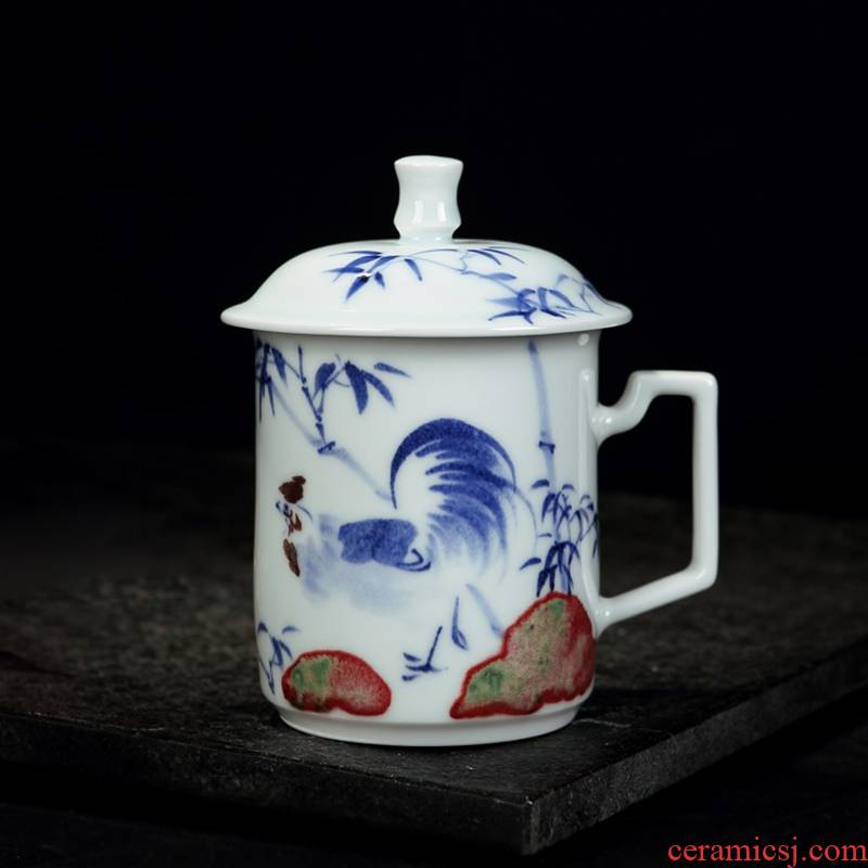 Qiao mu office cup of jingdezhen ceramic cups large individual household hand - made porcelain cup cup suits for