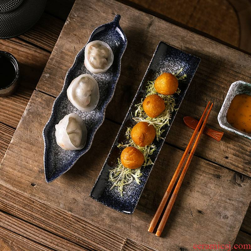 View the best Japanese sushi plate ceramic creative sashimi fish dish fastfood snack plate character retro restaurant meals