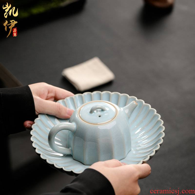 Open the slice your up can raise the teapot pot bearing kung fu tea kettle jingdezhen ceramic teapot hand grasp pot of drinking tea pot