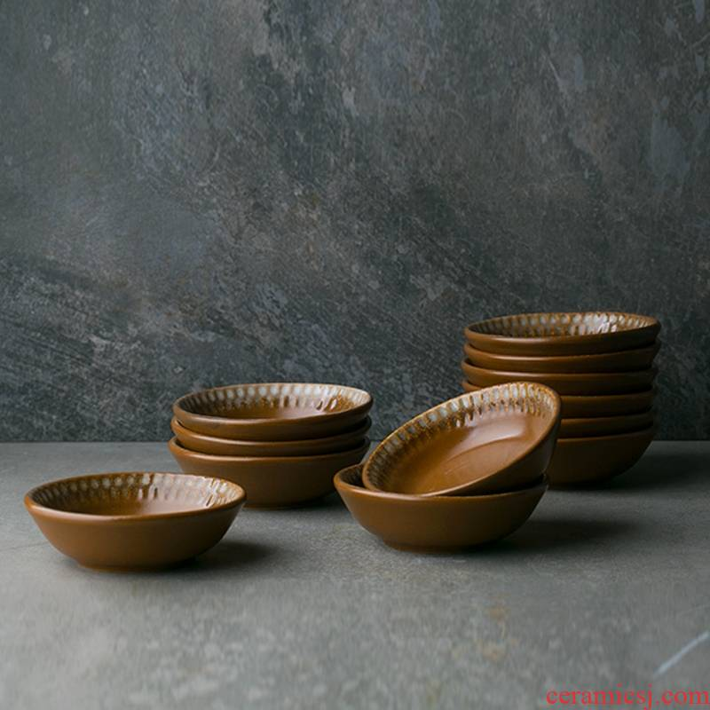 Qiao mu DY Japanese ceramics sauce flavor dishes taste disc creative snack plate oil vinegar dish dip dip bowl of tableware